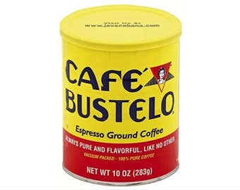 Cafe Bustelo Cans 10oz, EMPTY! Awesome for Storage, Crafts, DIY, Fixtures, Planters, use your imagination! Clean Like New w/lids