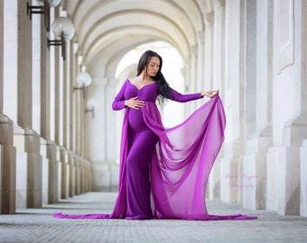Heather dress/ maternity gown / maternity dress / photoshoot / maxidress