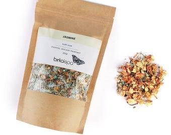 Jasmine Bath Soak - Dead Sea Salt - Insomnia  Treatment - Pain Treatment - Bath Soak - Vegan - Natural Cosmetics - Bath - Jasmine Soak