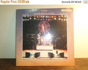 Save 30% Today Vintage 1983 Vinyl LP Record Rush All The World's A Stage Recorded Live Very Good Condition 9735
