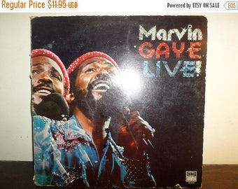 Save 30% Today Vintage 1974 Vinyl LP Record Marvin Gaye Live! Very Good Condition 10528