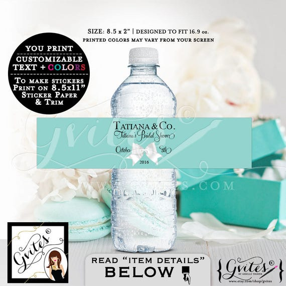 Bride and Co bridal shower, Baby and Co baby shower, water bottle labels, stickers, tags, Audrey decorations, printables. {Digital Only}