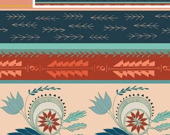 "Arizona Fabric Horizontal Stripes- Quilting 100% Cotton Fabric 45"" wide [[fat quarter/half yard/by the yard]]"