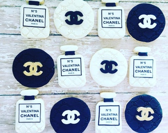 Custom chanel paris sugar cookies