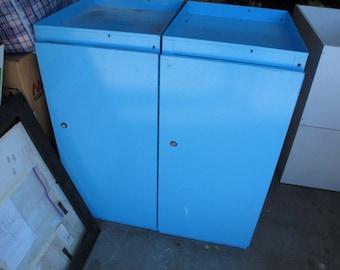 Metal Cabinet Blue Industrial Shelf Metal Doctors Cabinet Industrial Office Storage Blue Painted Shelving Unit Book Media Metal File Filing