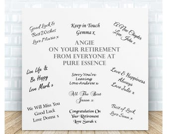 Your Retirement Guestbook Personalised Ceramic Plaque