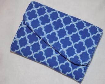Kindle e-reader case,e-reader case, padded Kindle Fire case, blue&light blue Kindle case,Kindle Case, gift for her, gifts under 20