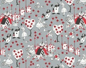 Disney Fabric Alice in Wonderland Fabric Painting the Roses Red in Stone Quilting Fabric From Camelot By the Yard 100% Cotton