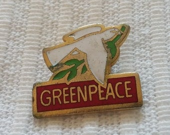Vintage Greenpeace supporters badge from the 1980s