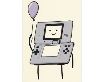 Game Boy Child - A6 Greeting Card