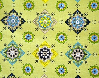 Remnant - Destash Fabric  - Quilting Cotton Fabric - Cotton - Lime Green fabric