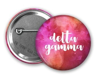 "Delta Gamma Button 2.25"", 1.5"" or 1"" - Single or Bulk (BD085)"