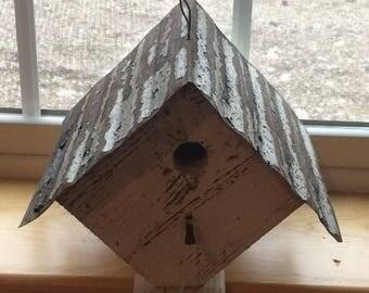 Amish Made Diamond Tin Roof Bird House