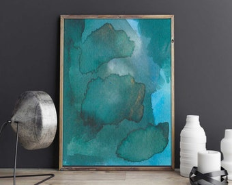 Modern Abstract Watercolor. Colorful Modern Abstract. Abstract Modern Watercolor. Modern and Abstract Watercolor