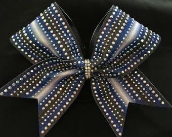 Full size sublimated Rhinestone cheer bow.