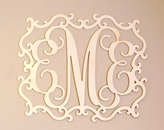 Over bed decor - Bedroom decor - Nursery monogram - Nursery wall art - Baby girl nursery decor - Baby shower gift - Girls room decor