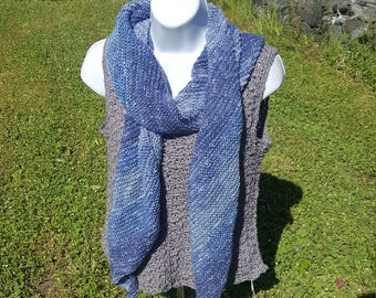 Super soft knit scarf, wrap scarf holiday gift, woman scarf, scarves and wraps, metallic thread, wind chimes