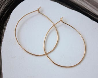 Large 14K gold-filled hoops