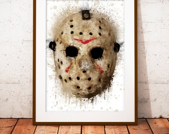 Jason Voorhees Friday the 13th - Limited edition print 210 x 297 mm, numbered and signed.