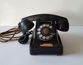 Vintage 1930's Western Electric F-1 phone, cloth cord could use some restoration, in as found condition