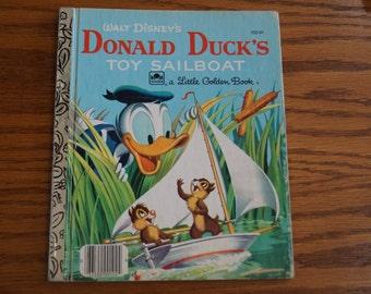 A Little Golden Book Walt Disney's Donald Duck's Toy Sailboat 102-66 1990