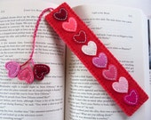 Felt Bookmark, Valentine Bookmark, Heart Bookmark, Gift for Readers, Gift for Book Lovers, Page Keeper, Page Minder, Stocking Stuffer