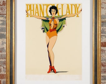 Mel Ramos - Phanthom Lady -Pencil signed & Numbered 2/12 -Rare