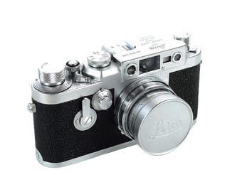 Leica IIIG w/50mm f:2 Summicron -1959 Vintage Rangefinder camera -Mint