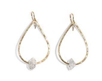Herkimer Dew Drop Earrings