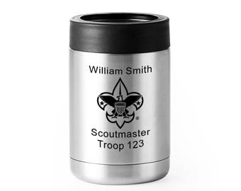 Scout Leader or Member Stainless Drink Cooler 12 oz