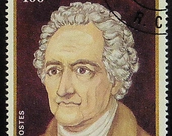 Johann Wolfgang von Goethe -Handmade Framed Postage Stamp Art 20841AM