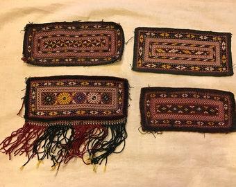 Turkmen tekke amulet Ethnic evil eyes amulet talisman embroidery vintage Textiles