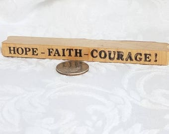 Hope Faith Courage Words Rubber Stamps, Scrapbook Title Stamp, Hope Stamp, Faith Stamp, Word Border Stamp, Courage Stamp, Phrase stamp