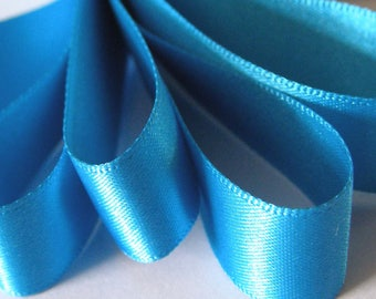 50 mm (2 inch) Wide Double Satin Ribbon  TURQUOISE   x 2 metres