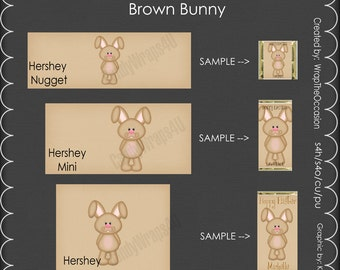 Brown Bunny - Candy Bar Wrappers