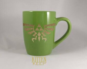 Legend of Zelda | Video Game Series | Crest of Hyrule Symbol | Coffee Mug