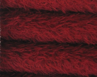 FREE U.S. SHIPPING - Quality 325S/CM - Mohair-1/4 yard (Fat) in Intercal's Color 450S-Crimson. A German Mohair Fabric for Teddy Bear Making