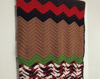 Charlie Brown Handmade Afghan Blanket. Handmade Afghan Blanket. Afghan Blanket. Vintage Afghan. Vintage Blanket. Festival Blanket.