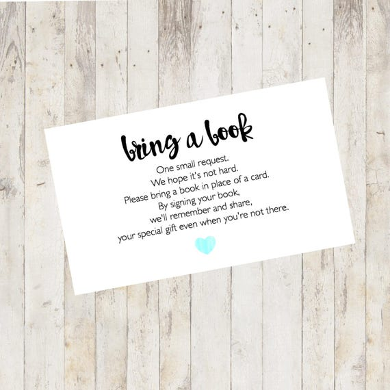 Marvelous Baby Shower Printable Baby Shower Bring A Book Card Bring A