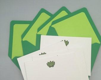 Letterpress Blank Greeting Card Plant