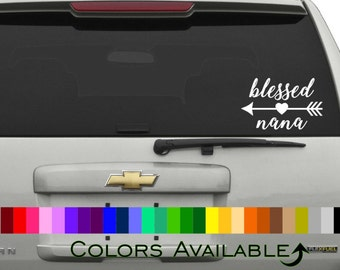 Blessed Nana Car Decal