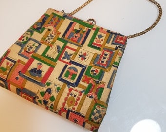 FREE  SHIPPING   1940 Hand Painted Handbag