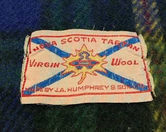 Vintage Wool Stadium Blanket/Nova Scotia Tartan/gift/stroller/picnic blanket/pampered pup/boating