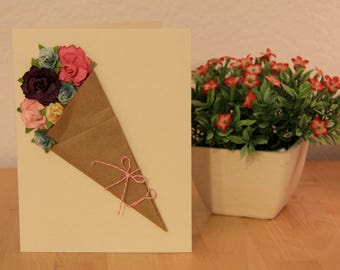 Bunch of Flowers, Blank Inside Card