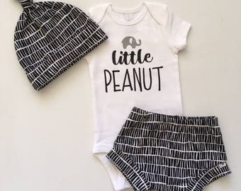 """NEW! """"Stacked""""/Black and White/Infant Shorties/Toddler Shorties"""