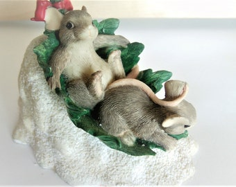 Vintage Charming Tail / Christmas Charming Tails / Charming Tail Mice / Mice Decor / Mice Items / Christmas Mice / Ivy Decor /