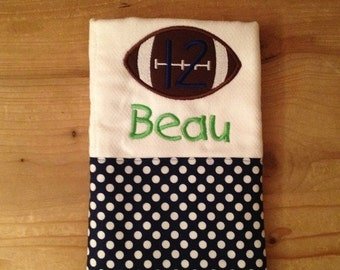 Football Team Spirit Burp Cloth