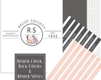 Relief Society Presidency Kit: Binder Covers, Conducting Sheet, Meeting Agenda