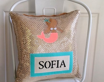 Mermaid Personalised Cushion