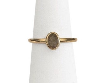 14K Gold Oval Cremation Ring